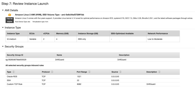 Review Instance Screen Screenshot